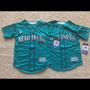 2 Majestic Seattle Mariners youth jerseys